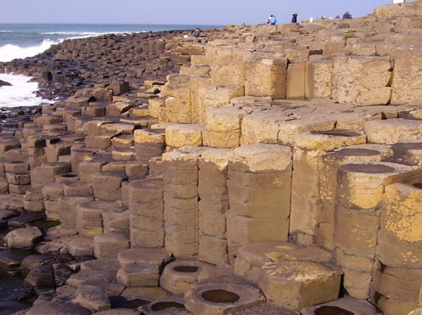 Macro world image - basalt columns from lesson